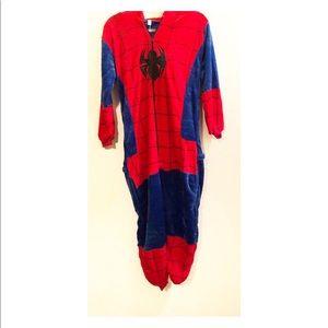 Other - Spider-Man soft hooded adult onesie